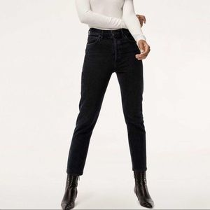 AGOLDE Riley High Rise Slim Crop Jeans